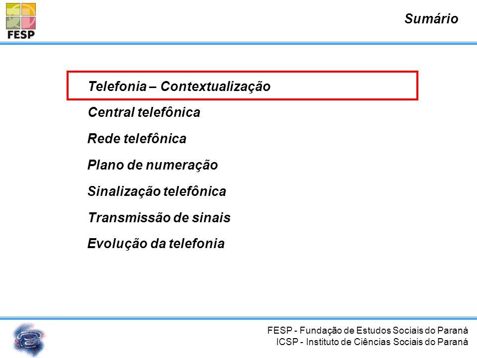 FESP - Fundação de Estudos Sociais do Paraná ICSP - Instituto de Ciências Sociais do Paraná