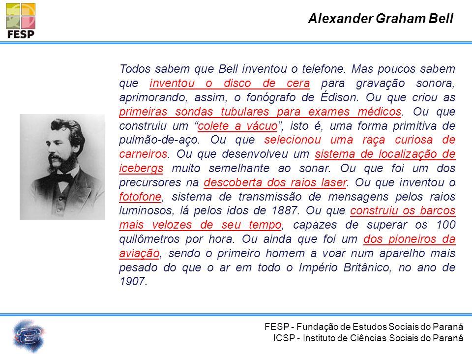 FESP - Fundação de Estudos Sociais do Paraná ICSP - Instituto de Ciências Sociais do Paraná Conclusão Central telefônica Plano de numeração Rede telef