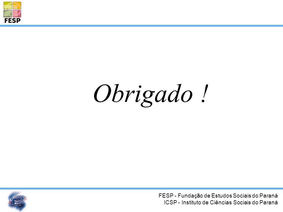 FESP - Fundação de Estudos Sociais do Paraná ICSP - Instituto de Ciências Sociais do Paraná Referências Bibliográficas http://www.museudotelefone.org.