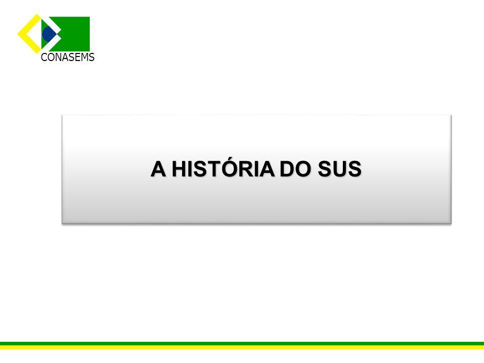 CONASEMS A HISTÓRIA DO SUS