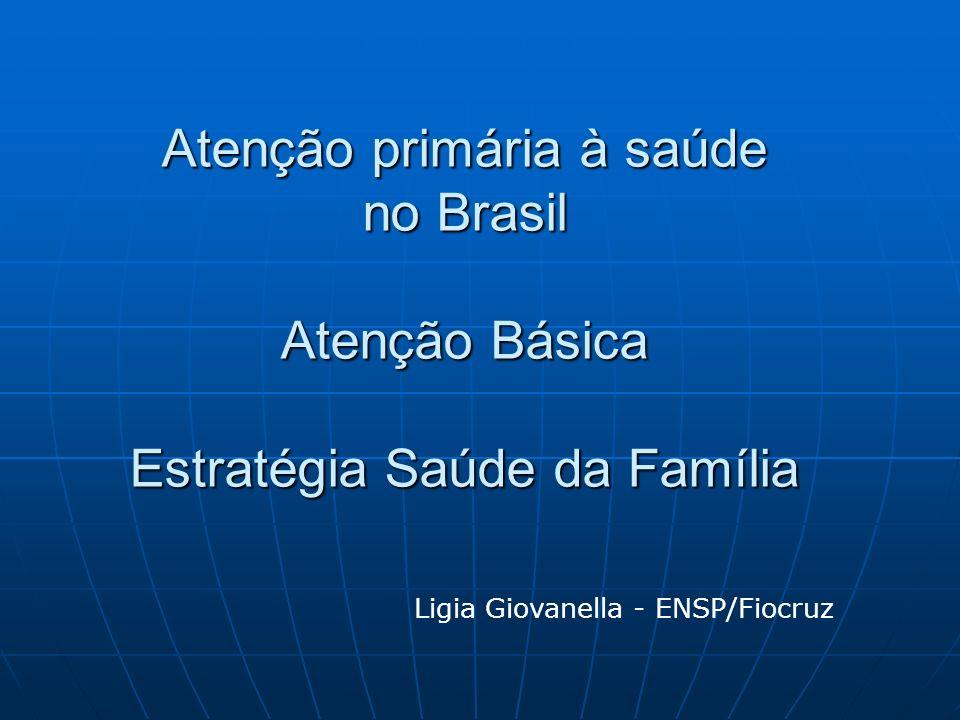 Evolução da população coberta EqSF, BRASIL, 1994 Junho 2011 – 102 milhões = 53% pop total FONTE: SIAB - Sistema de Informação da Atenção Básica Pop Brasil 190,7 millones de hab.