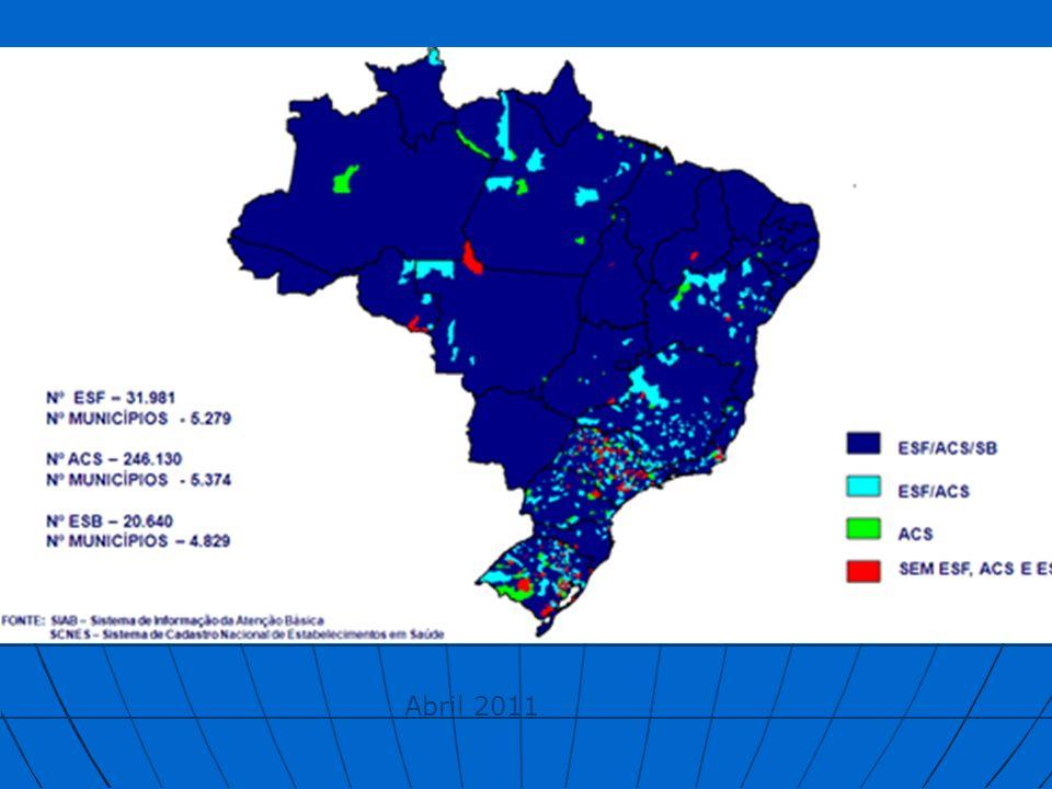 % Cobertura EqSF 2011 abril