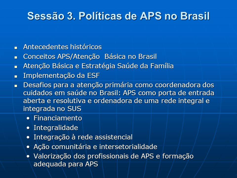 Atenção primária à saúde no Brasil Atenção Básica Estratégia Saúde da Família Ligia Giovanella - ENSP/Fiocruz