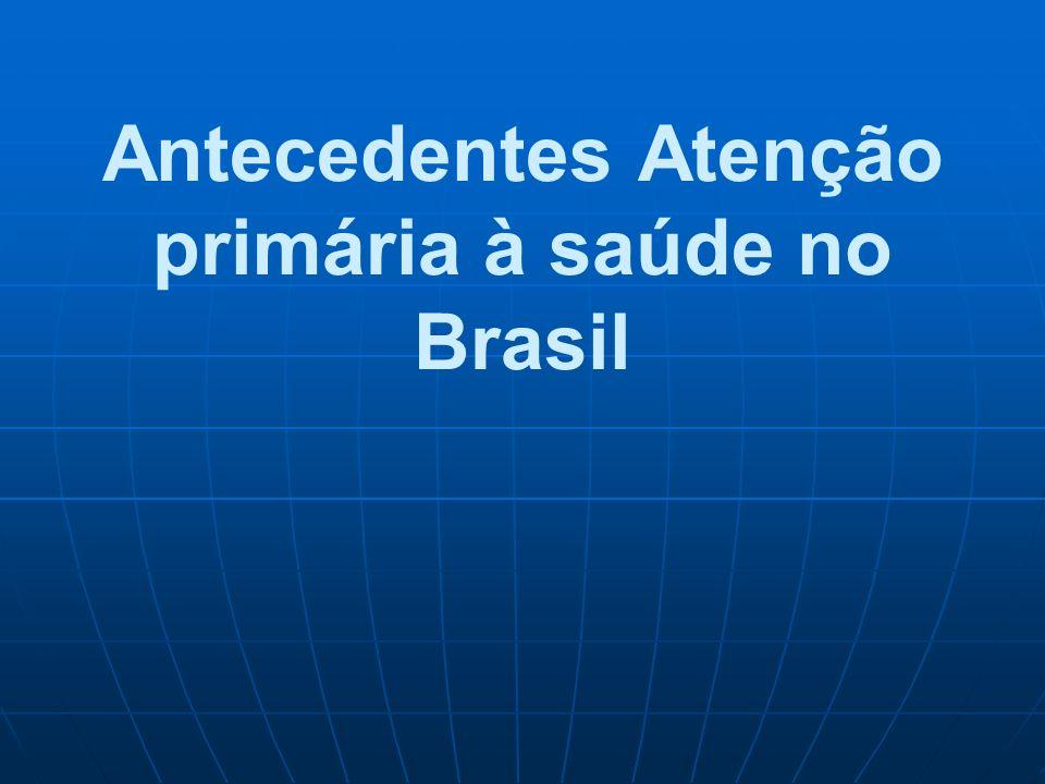 Sessão 3. Políticas de APS no Brasil Antecedentes históricos Antecedentes históricos Conceitos APS/Atenção Básica no Brasil Conceitos APS/Atenção Bási