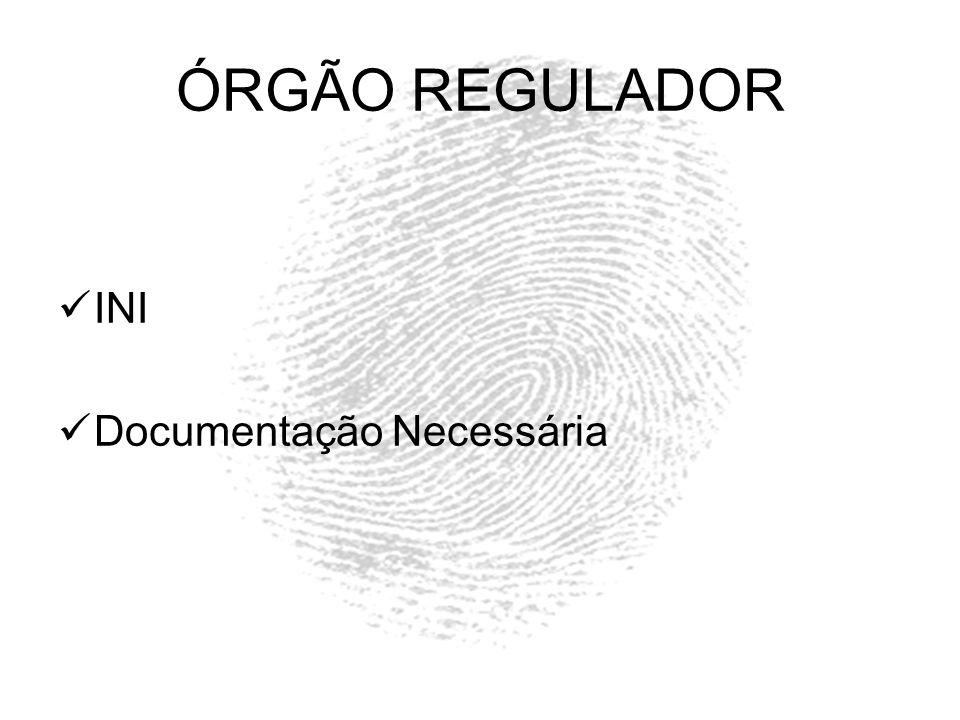 ÓRGÃO REGULADOR INI Documentação Necessária