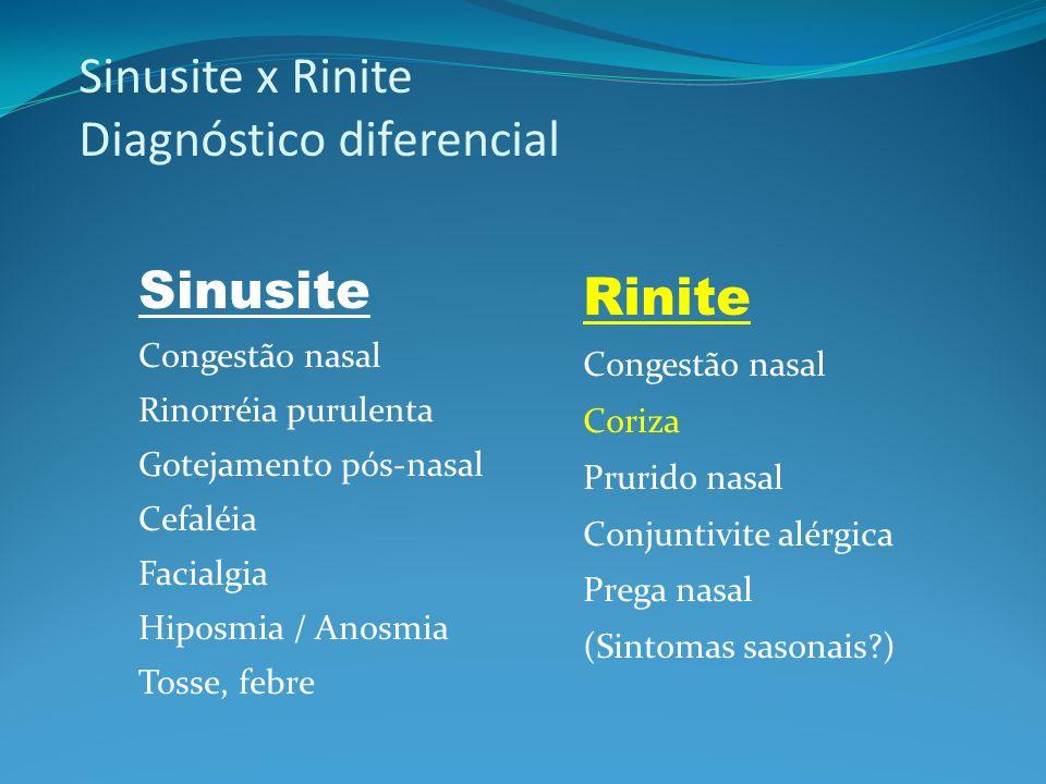 43 Polipose nasal Polipose múltipla (maxilo-etmoidal) Pólipo isolado de Killian (maxilar) Processo inflamatório 1/3 associado com asma; tríade asma + AAS + polipose Recorrência