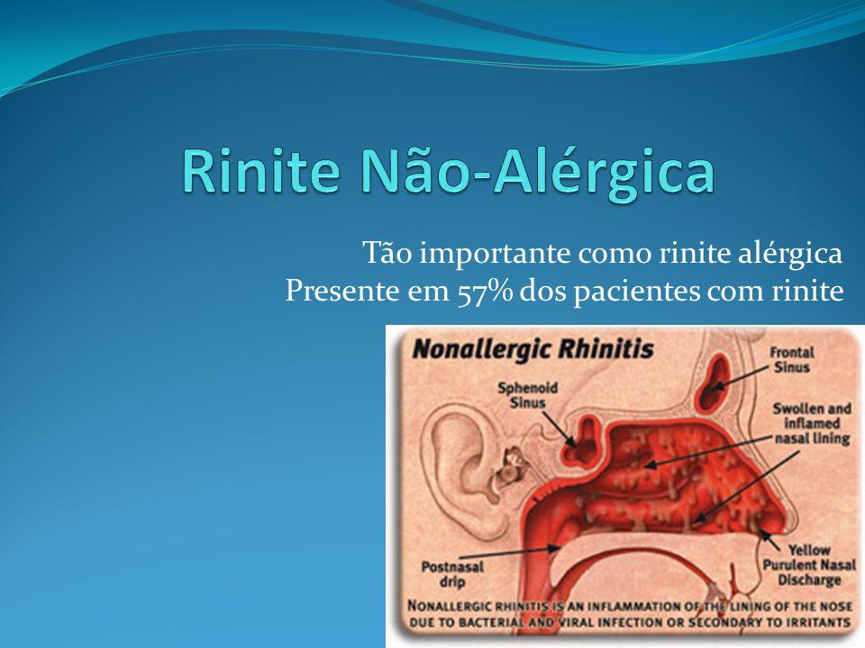 35 Tão importante como rinite alérgica Presente em 57% dos pacientes com rinite