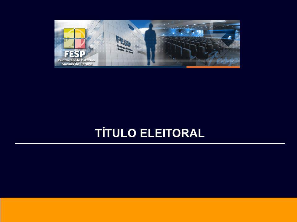 ABRANGÊNCIA Todo o Território Nacional USO O código numérico é utilizado para identificar os eleitores.