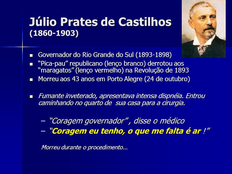 Júlio Prates de Castilhos (1860-1903) Governador do Rio Grande do Sul (1893-1898) Governador do Rio Grande do Sul (1893-1898) Pica-pau republicano (le