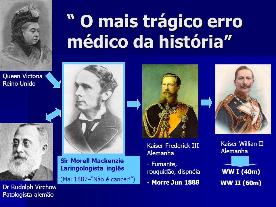 O mais trágico erro médico da história O mais trágico erro médico da história Queen Victoria Reino Unido Kaiser Frederick III Alemanha - - Fumante, ro