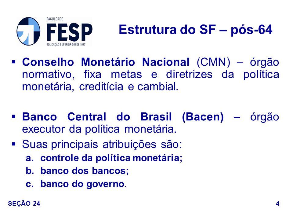 Comissão de Valores Mobiliários (CVM) – órgão normativo do mercado de capitais (ações e debêntures).