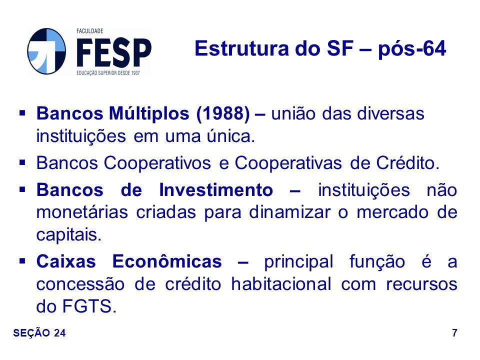 Elevada participação do Estado; Não-criação de linhas de financiamento de longo prazo por parte do setor privado; Alta dependência de recursos externos.