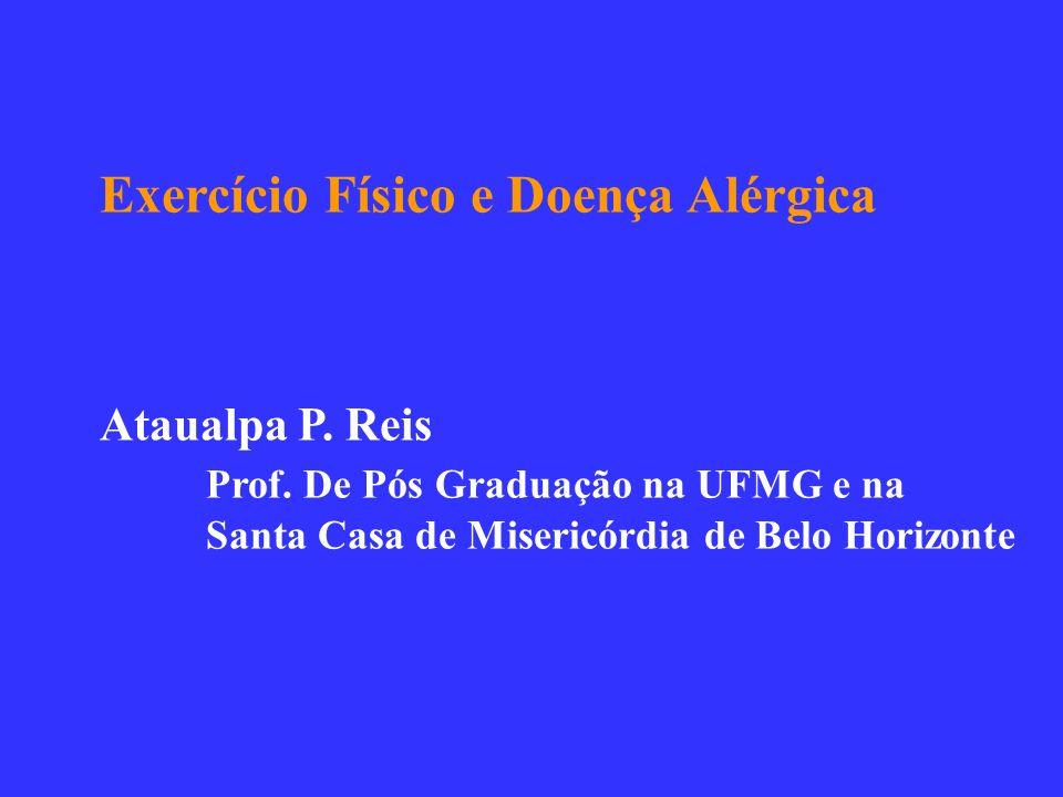 Exercício Físico e Doença Alérgica Ataualpa P. Reis Prof. De Pós Graduação na UFMG e na Santa Casa de Misericórdia de Belo Horizonte