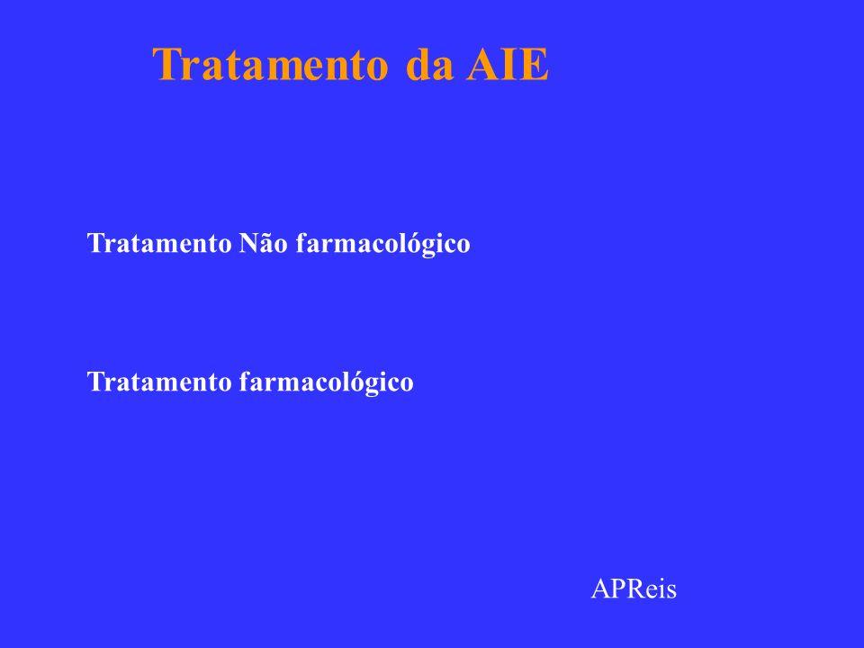 Tratamento da AIE Tratamento Não farmacológico Tratamento farmacológico APReis