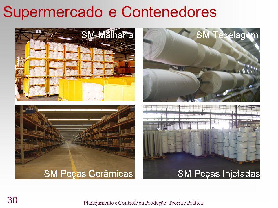 30 Planejamento e Controle da Produção: Teoria e Prática Supermercado e Contenedores