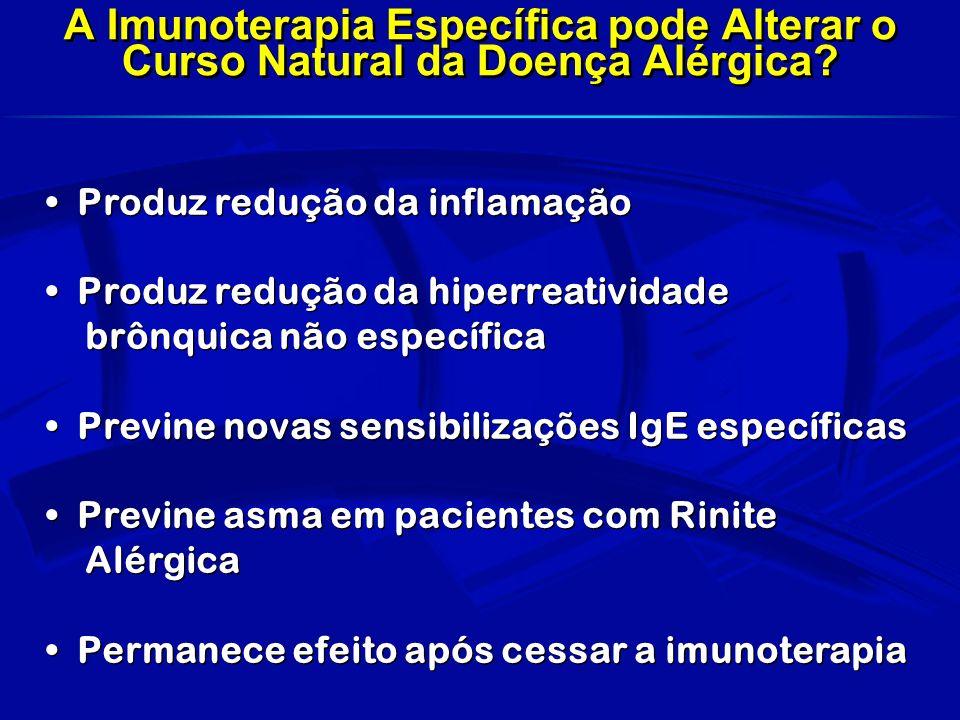 Controle de exposição da mãe Gestação Seleção de cels T Controle Ambiental Infecção Natural Controle Ambiental Infecção Natural TH1TH1 TH2TH2 Alérgeno