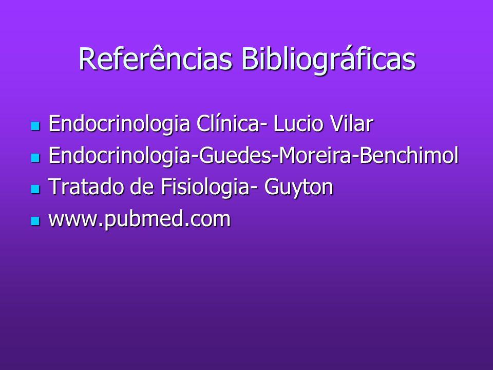 Referências Bibliográficas Endocrinologia Clínica- Lucio Vilar Endocrinologia Clínica- Lucio Vilar Endocrinologia-Guedes-Moreira-Benchimol Endocrinolo