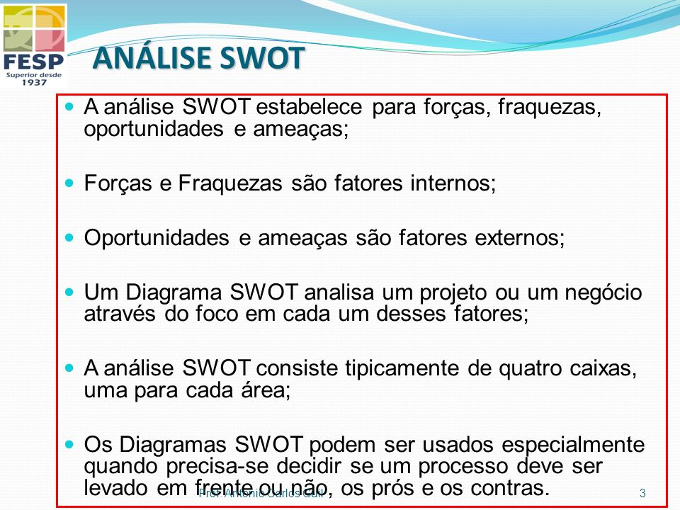 Imaginário SWOT Pontos FortesFraquezas Oportunidades Ameaças 4Prof. Antonio Carlos Guil