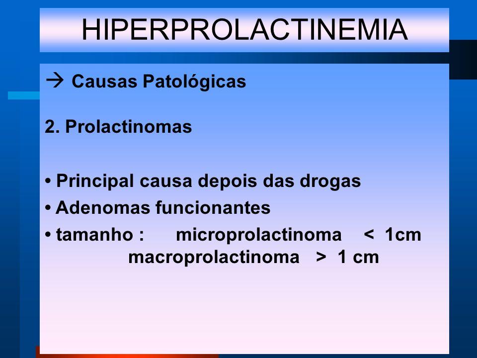 HIPERPROLACTINEMIA Causas Patológicas 2.