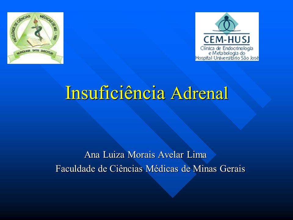 Insuficiência Adrenal Ana Luiza Morais Avelar Lima Faculdade de Ciências Médicas de Minas Gerais Faculdade de Ciências Médicas de Minas Gerais