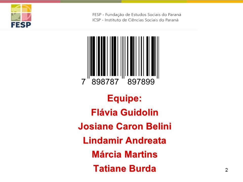 2 Equipe: Flávia Guidolin Josiane Caron Belini Lindamir Andreata Márcia Martins Tatiane Burda 8987878978997