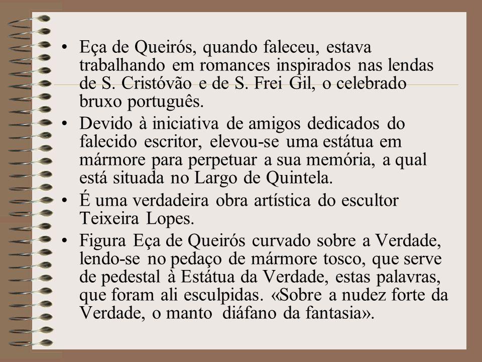 Eça de Queirós era casado com a Sr.ª D. Emília de Castro Pamplona, irmã do conde de Resende. Colaborou na Gazeta de Portugal, Revolução de Setembro, R