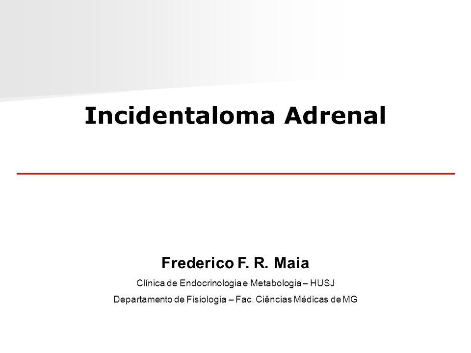 Incidentaloma Adrenal Frederico F. R. Maia Clínica de Endocrinologia e Metabologia – HUSJ Departamento de Fisiologia – Fac. Ciências Médicas de MG