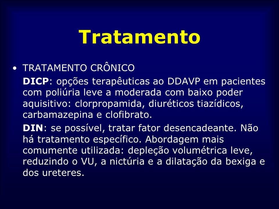 Tratamento TRATAMENTO CRÔNICO DICP: opções terapêuticas ao DDAVP em pacientes com poliúria leve a moderada com baixo poder aquisitivo: clorpropamida,