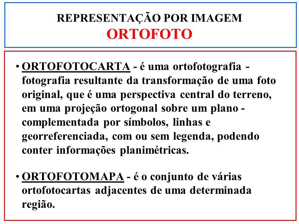 ORTOFOTOCARTA - é uma ortofotografia - fotografia resultante da transformação de uma foto original, que é uma perspectiva central do terreno, em uma p