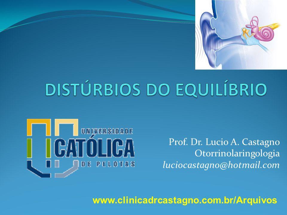 Prof. Dr. Lucio A. Castagno Otorrinolaringologia luciocastagno@hotmail.com www.clinicadrcastagno.com.br/Arquivos