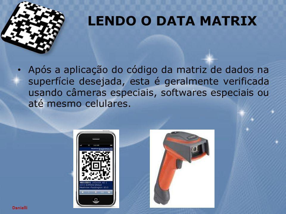 Após a aplicação do código da matriz de dados na superfície desejada, esta é geralmente verificada usando câmeras especiais, softwares especiais ou at