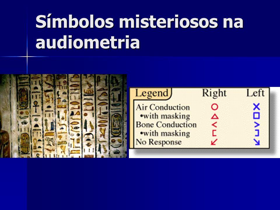 Símbolos misteriosos na audiometria