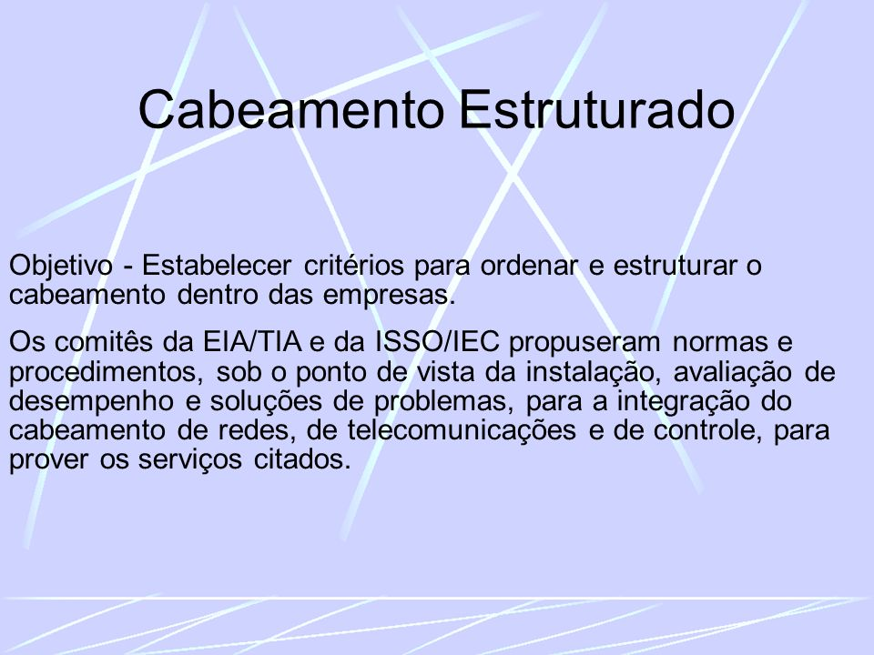 CABEAMENTO COM PAR TRANÇADO