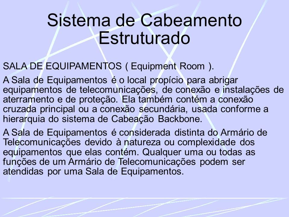 Sistema de Cabeamento Estruturado SALA DE EQUIPAMENTOS ( Equipment Room ).
