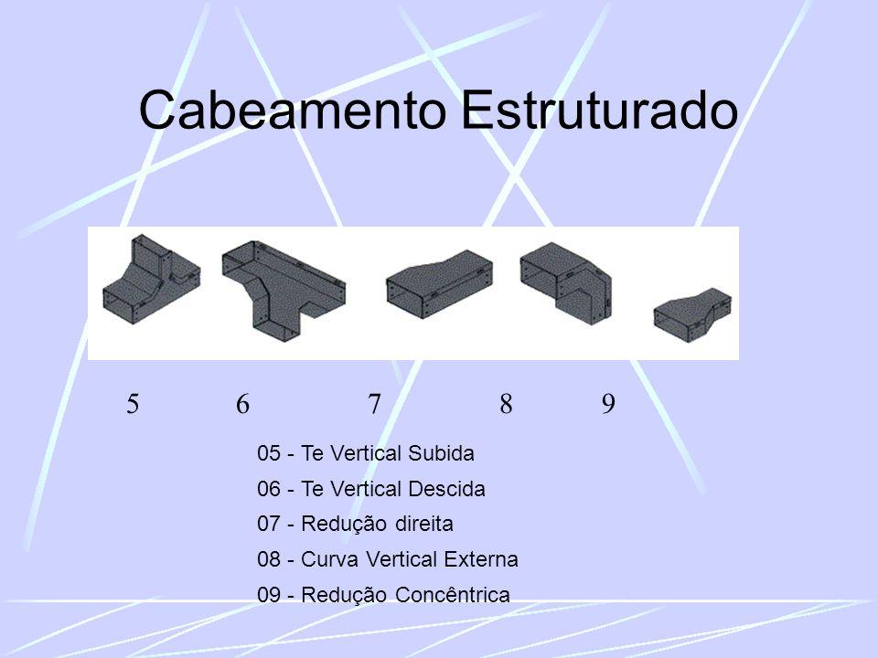 Cabeamento Estruturado 5 6 7 8 9 05 - Te Vertical Subida 06 - Te Vertical Descida 07 - Redução direita 08 - Curva Vertical Externa 09 - Redução Concêntrica
