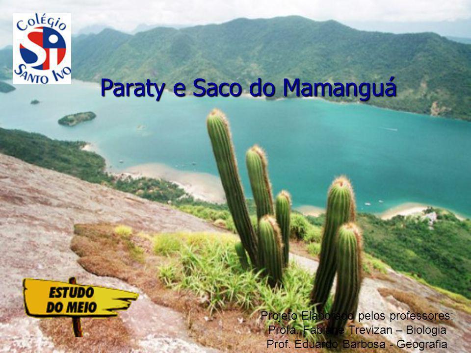 Paraty Saco do Mamanguá Patrimônio Histórico Nacional, tombada pelo Iphan em 1958 Berçário marinho e reduto tradicional de caiçaras Público Alvo: Alunos do 1º e 2ºs anos do Ensino Médio