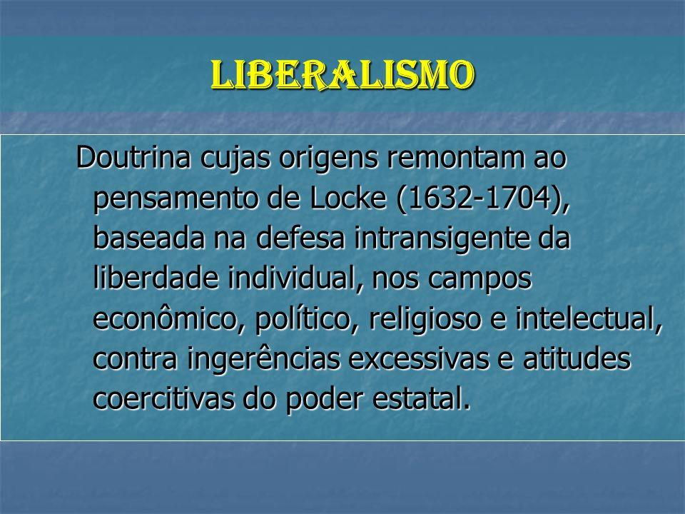 Doutrina cujas origens remontam ao pensamento de Locke (1632-1704), baseada na defesa intransigente da liberdade individual, nos campos econômico, pol