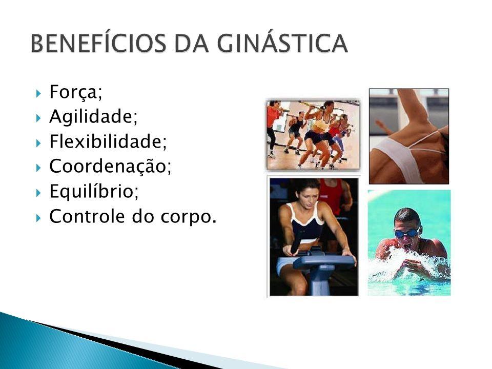 Força; Agilidade; Flexibilidade; Coordenação; Equilíbrio; Controle do corpo.
