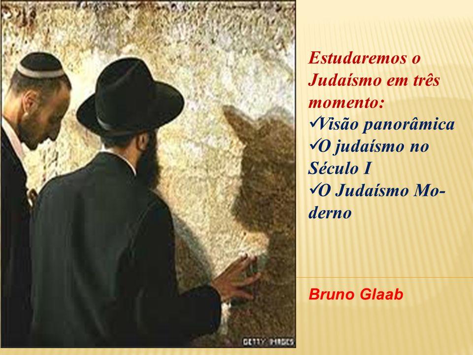 Estudaremos o Judaísmo em três momento: Visão panorâmica O judaísmo no Século I O Judaísmo Mo- derno Bruno Glaab