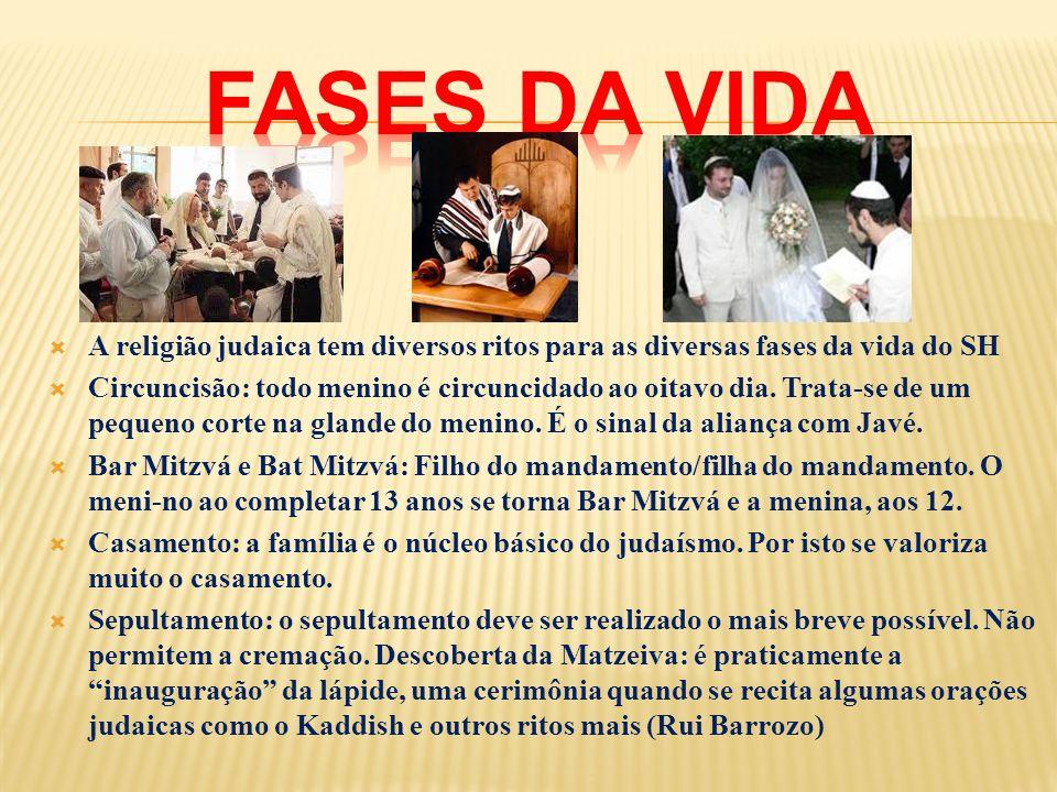 A religião judaica tem diversos ritos para as diversas fases da vida do SH Circuncisão: todo menino é circuncidado ao oitavo dia. Trata-se de um peque