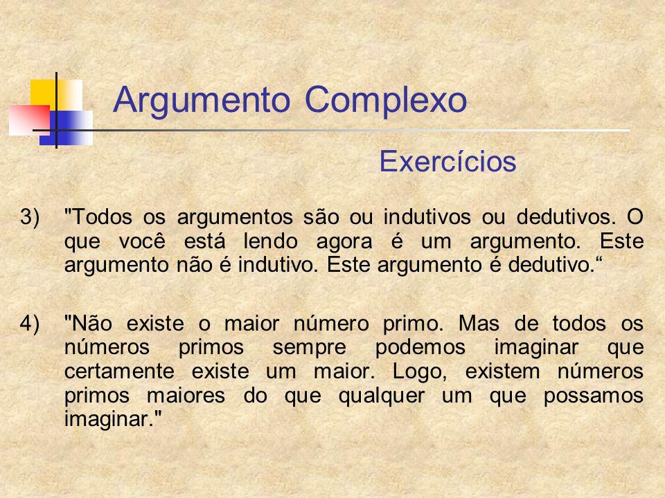 Argumento Complexo Exercícios 3)