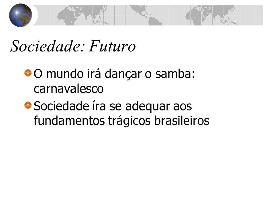 Sociedade: Futuro O mundo irá dançar o samba: carnavalesco Sociedade íra se adequar aos fundamentos trágicos brasileiros