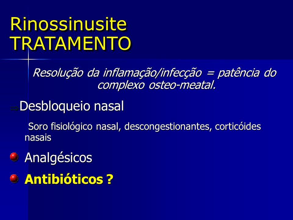 Resolução da inflamação/infecção = patência do complexo osteo-meatal. Resolução da inflamação/infecção = patência do complexo osteo-meatal. Desbloquei
