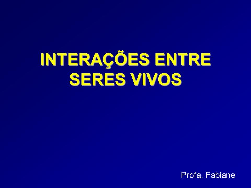 Profa. Fabiane INTERAÇÕES ENTRE SERES VIVOS