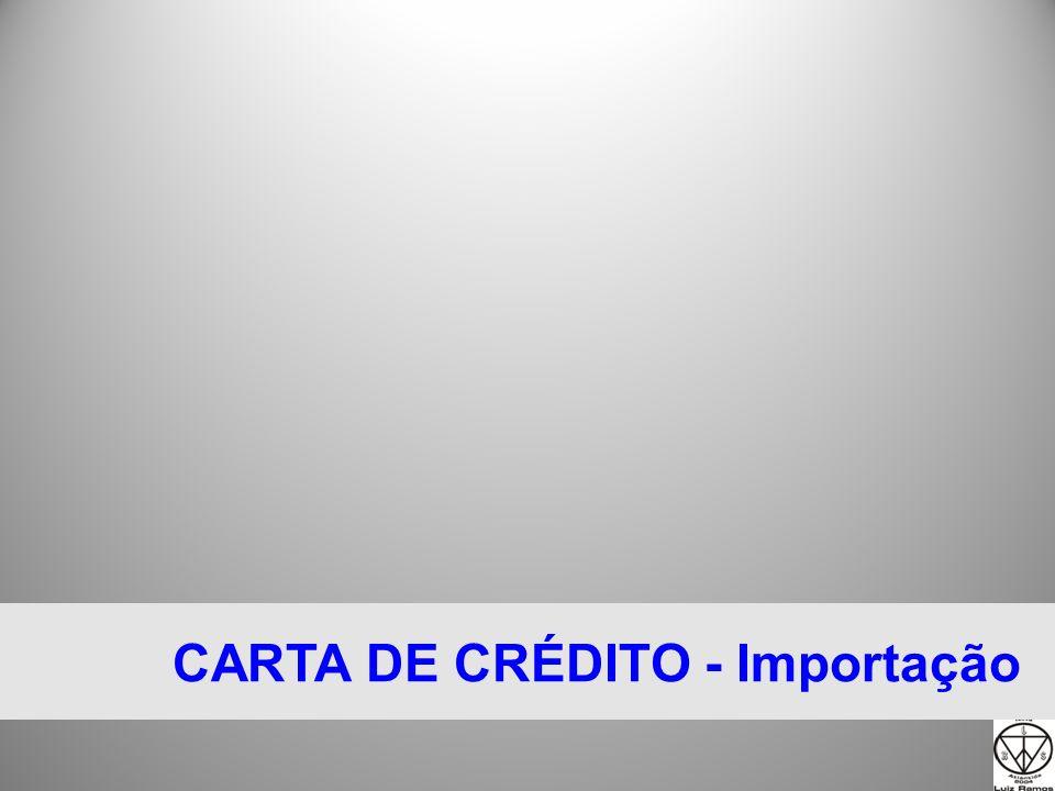 CARTA DE CRÉDITO Banco do Exportador 1 NEGOCIAÇÃO 3 4 Banco do Importador Do c 5 Banco Avisador L/C 6 7 Do c 9 10 9 Importador Exportador 2 L I 8 11 12 DA