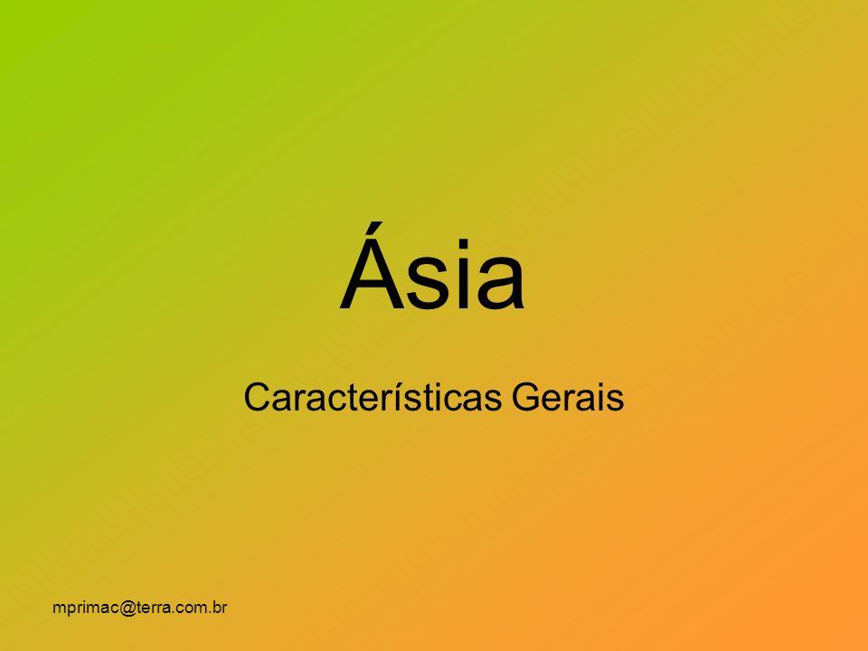 mprimac@terra.com.br Ásia Características Gerais