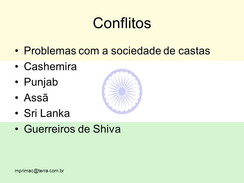 Conflitos Problemas com a sociedade de castas Cashemira Punjab Assã Sri Lanka Guerreiros de Shiva
