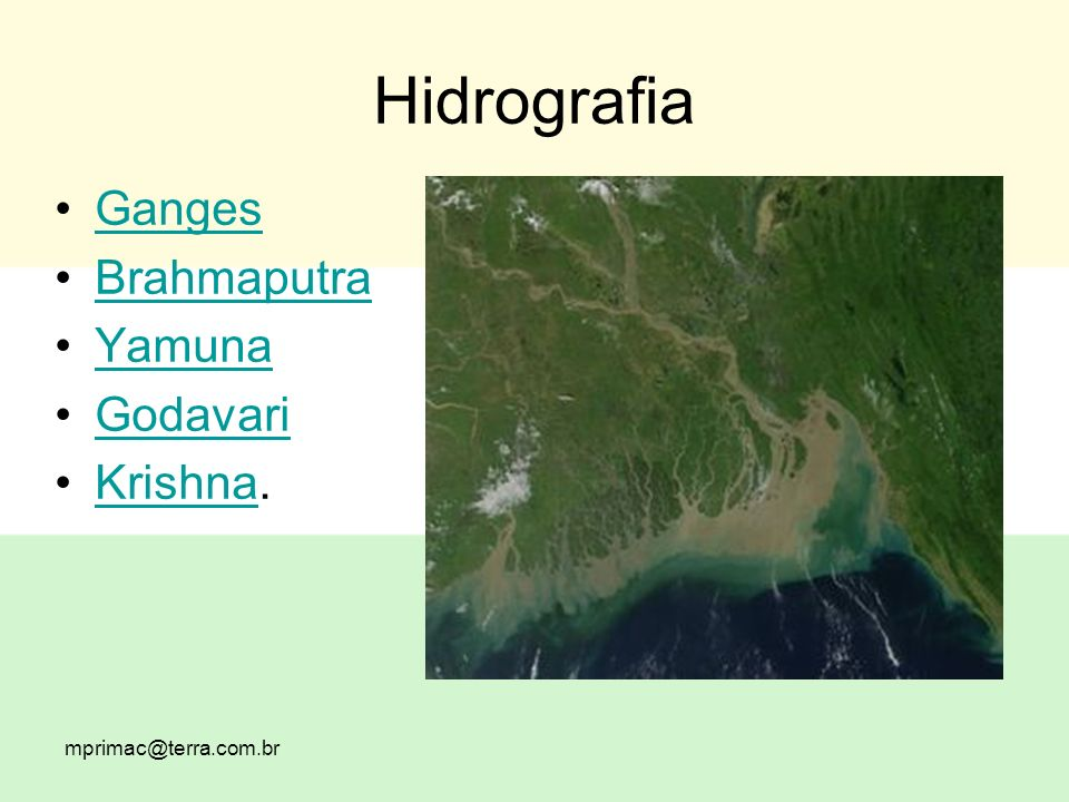 Hidrografia Ganges Brahmaputra Yamuna Godavari Krishna.Krishna