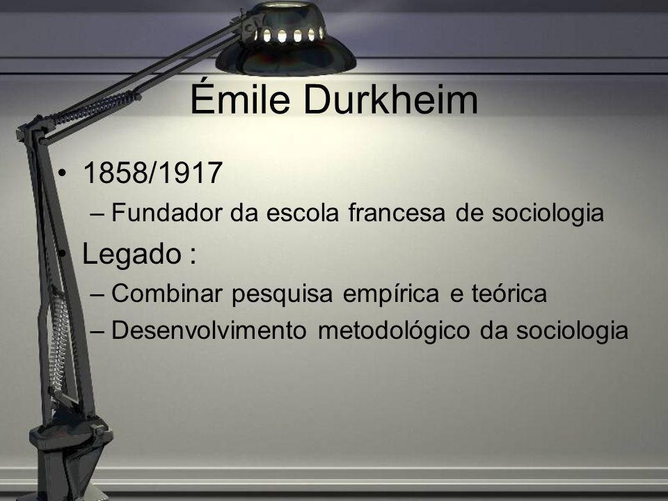 A Sociedade segundo Durkheim Para compreendermos a sociologia durkheimiana, ajuda conhecermos sua concepção sobre o que é uma sociedade: (Em As Formas elementares de vida religiosa, pág.