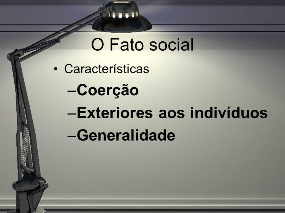 Fato Social e Consciência Coletiva Consciência coletiva Processos de socialização